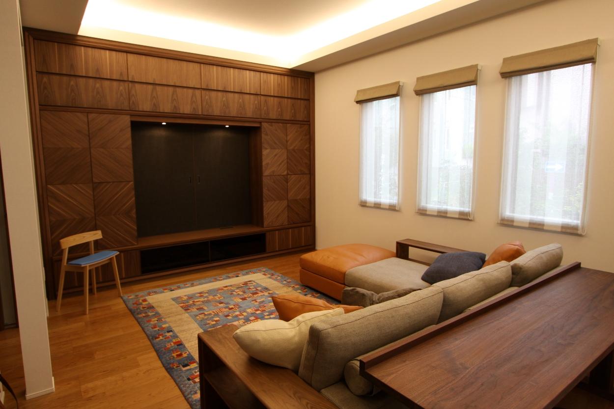 最高級壁面収納、無垢家具、WISE、オーダー家具2