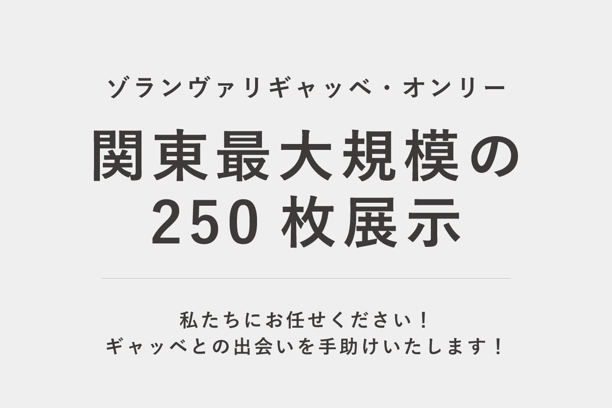 関東最大規模250枚ギャッベ展示