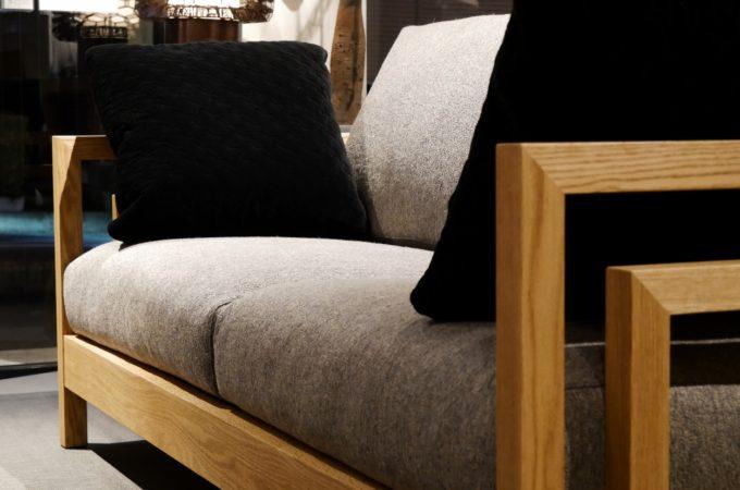 ソファ、木枠、オーク材